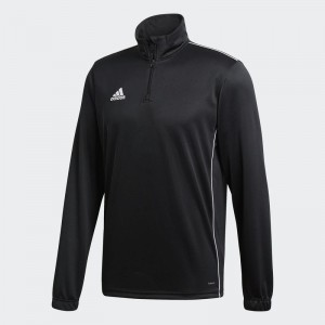 Sweat 1/4 zip ADIDAS CORE 18 - Junior